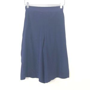 Armani Exchange XS Blue Silk Flare Wide Culottes V